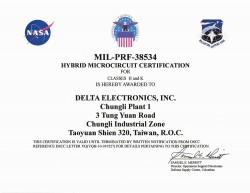Сертификат Delta MIL-PRF-38534